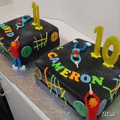 #lasertag #neon #bright #two #double #cake #dlish Cakes For Boys, Birthday Cakes, Neon, Bright, Desserts, Neon Tetra, Anniversary Cakes, Deserts, Dessert