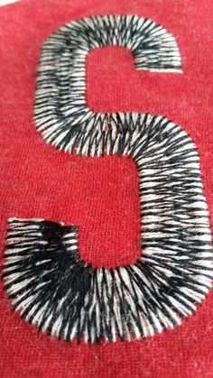 2 colour embroidery