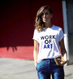 t-shirt - work of art Cool Tees, Cool T Shirts, Tee Shirts, Plain White T Shirt, White Tees, Fashion Week, Fashion Looks, Fashion Outfits, Minimalist Chic