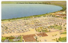 Camp Blanding FL Starke FL Postcard Hospital Area Lake Kingsley 1940'S