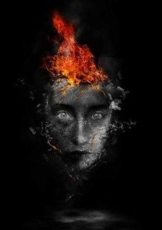 Create Surreal Human Face with Flame Hair and Disintegration Effect in Photoshop - PSD Vault
