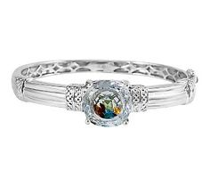 Attitudes by Renee Sterling 10.00 ct tw Multi-Gemstone Bangle