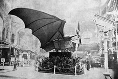 The Ader Éole, also called Avion, was an early steam-powered aircraft developed by Clément Ader in the 1890s and named after the Greco-Roman wind god Aeolos :: http://cerf.volant.historic.free.fr/pages/alphabetique/nom/clement_ader/PH5G10.jpg