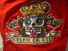 Day of the Dead style backpatch. Love this...I want it!