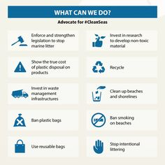 are important for a healthy planet & healthy marine life. Find out how you can take action to keep them clean in our infographic - via UN Environment Smoking Ban, True Cost, Save Our Oceans, Reduce Reuse Recycle, Environmental Health, Global Warming, Marine Life, Conservation, Infographic