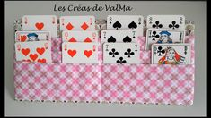 Tuto Couture Support / Door Playing Cards for children, seniors … # … - The source of information passes through us Baby Sewing Projects, Sewing For Kids, Sewing Tutorials, Sewing Crafts, Sewing Patterns, Sewing Ideas, Playing Card Holder, Playing Cards, Sewing Online