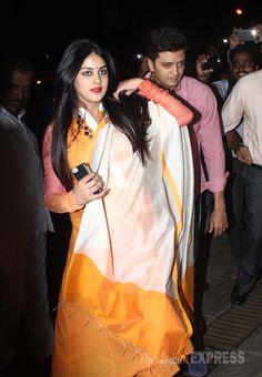 Riteish Deshmukh and Genelia D'Souza Deshmukh arrive together at Aaradhya Bachchan's birthday bash.