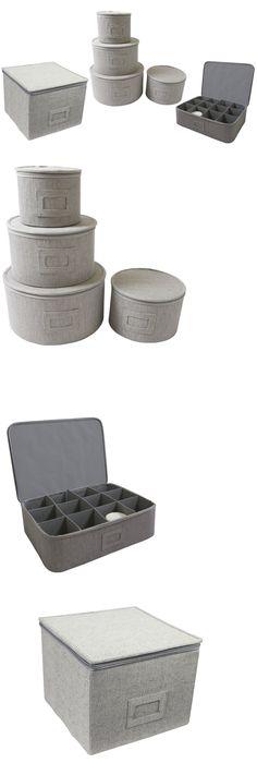 Other Kitchen Storage 11703: China Storage Hard Cases Dinnerware Protectors  Cups Organizer Round Plates Chest