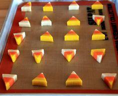 Candy corn shaped sugar cookies.  Too cute!