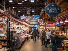 Granville Island - just one of many places to visit in Vancouver. #granvilleisland #vancouver
