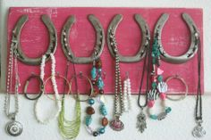 horseshoes to hang jewelry...or whatever else! <3 this