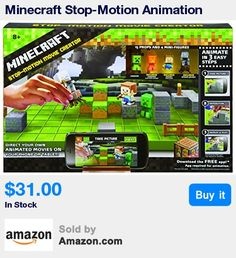 Make one-of-a-kind Minecraft films! * The Minecraft Animation Studio combines real-life objects with a mobile app so that kids can direct their own beginnings and endings * Use your mobile device to aim and shoot then swap out environments to tell a different story * Create, share, and show off your animations with other fans of Minecraft * Includes 1 movie stage, 6 different backgrounds, 3 exclusive mini-figures, a device holder, and over 18 other accessories * 13:48 Jan 30 2017