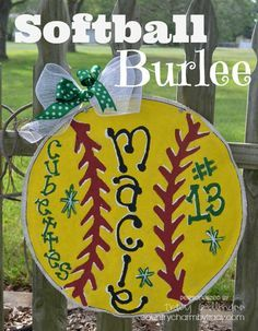Softball Burlee....Could I be one of those parents that has a sign for their athlete child in their yard? I very well could be :)