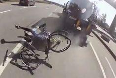 TOP 5 - BICICLETAS DE CARRETERA: El conductor de un camión se da a la fuga después ...