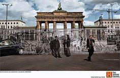 Oude historische foto's gecombineerd met het heden.