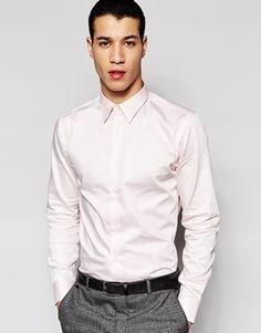 Selected Homme – Elegantes, enges Hemd aus ägyptischer Baumwolle