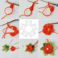 """5 petals cluster flower free pattern with picture tutorial and chart – Artofit Big crochet poppy free pattern step by step – Artofit The difference is in the details easy crochet flowers bows – Artofit maria-cro: """" pattern for the cute flowers :) Mode Crochet, Crochet Diy, Crochet Flower Tutorial, Crochet Flower Patterns, Crochet Stitches Patterns, Crochet Motif, Crochet Crafts, Crochet Flowers, Crochet Projects"""