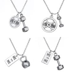 Necklace  Choker Necklace Dumbbell Kettlebell Me Me Fitness Bodybuilding Gym Necklace Jewelry for Men or Women Best Friend Gift <3 AliExpress Affiliate's Pin. Click the image to find out more