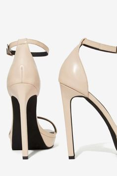 Jeffrey Campbell Strides Leather Heel
