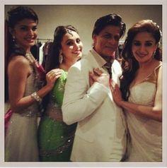 Shahrukh Khan, Madhuri Dixit-Nene, Rani Mukherji and Jacqueline Fernandez - Backstage in Auckland-Temptation Reloaded (2013) Embedded image permalink