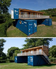 Artikul Architects have designed this small boutique hotel named ContainHotel, in Treboutice, Czech Republic, and they named it that as it's made from shipping containers.