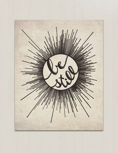 "Be Still Hand Lettered Print - Star Abstract Hand Lettered Bible Verse Print Etsy ""littleredflag"""