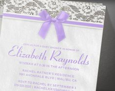 Lavender Country Baby Shower Invitation