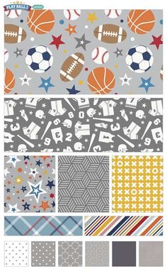 Play Ball 2 fabric line by Lori Whitlock for Riley Blake Designs—Subscribe to our newsletter at http://www.rileyblakedesigns.com/newsletter/
