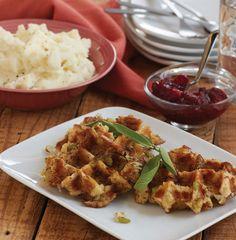 Stuffles (Stuffing Waffles)  - Delish.com ~ You could build an amazing Thanksgiving sandwich on these! Yummmmmmm!!!