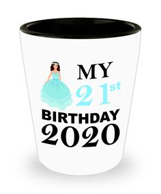 21st Birthday Gift for Her   Funny Shot Glass for 21 Birthday Queen   Princess Birthday Gift   Gift for Best Friend Turning 21 Shotglass   21 Birthday, Princess Birthday, Special Birthday Gifts, Birthday Gifts For Her, Turning 21, Best Friend Gifts, Shot Glass, Queen, Mugs