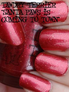 """@TawdryTerrier """"Santa Paws is Coming to Town"""" in the shade - available at https://www.etsy.com/shop/TawdryTerrier #nailpolish #indienailpolish #christmas #tawdryterrier"""