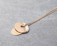 Ginette NY 3-sequins rose gold necklace