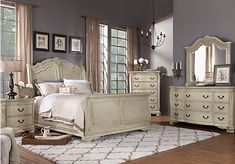 picture of Cortinella Queen White 5Pc Sleigh Bedroom from Bedroom Sets Furniture