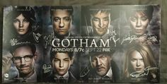 2014 SDCC Comic Con Exclusive GOTHAM SIGNED Poster by cast producer Batman Joker