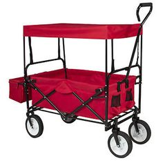 Folding Wagon W/ Canopy Garden Utility Travel Collapsible Cart Outdoor Yard  Home $64.95 $179.99 (230 Available) End Date: Apr 272016 07:59 AM GMT 07:00
