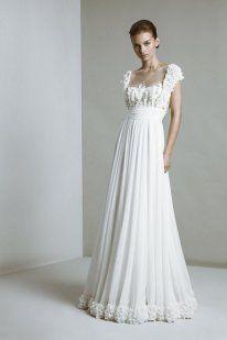 Vestidos de novia sencillos y románticos www.smilelit.com
