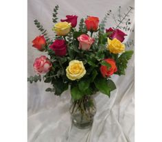 Diverse Mixed Colored Rose Bouquet in Princeton, Plainsboro, & Trenton NJ, Monday Morning Flower and Balloon Co. Rose Flower Arrangements, Rose Delivery, Morning Flowers, Love Rose, Monday Morning, Rose Bouquet, All The Colors, Color Mixing, Favorite Color