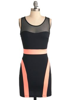 Sleek C'est La Vie Dress. I'd personally like it without the two strips of pink going down the side of the hips, but I see what they were trying to do. :/