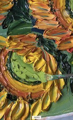 Pallette Knife Painting, Palette Knife, Painting Tips, Painting Techniques, Encaustic Art, Custom Paint, Oil Paintings, Sunflowers, Canvas Wall Art