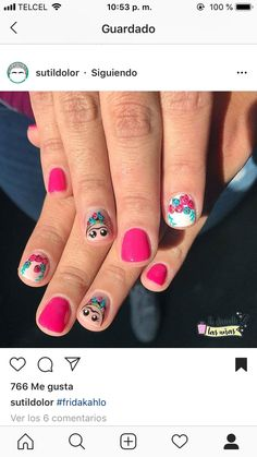 Nails, Beauty, Frida Kahlo, Fingernail Designs, Make Up, Finger Nails, Ongles, Beauty Illustration, Nail
