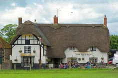 The Red Lion. Sits in middle of Avebury Stone Circle. Haunted pub. Had a tasty Ploughman's Lunch here with Cat.