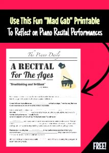 Recital reflection madgab free printable for the lesson after a student recital