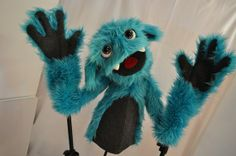 Professional blinking monster puppet by LunasPuppets on Etsy, $229.00