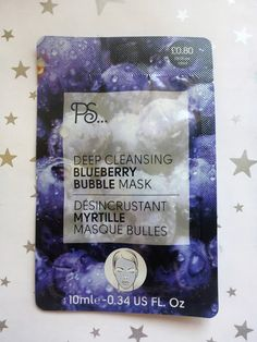 Beauty, Bargains and Beyond: Primark PS Deep Cleansing Blueberry Bubble Mask