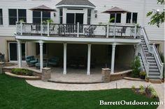 Barrett Outdoors - 2nd story deck 1st story patio