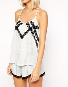 Enlarge River Island Cami Top With Lace Back