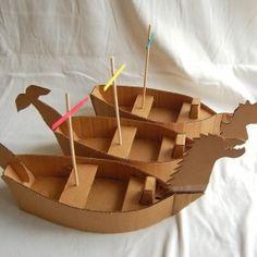 cardboard viking ships!