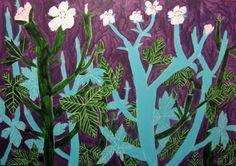 Miroco Machiko Vibrant Flora and Fauna Paintings inspiration Illustration Botanique, Art Et Illustration, Botanical Illustration, Art Floral, Figure Painting, Painting & Drawing, Art Japonais, Japanese Artists, Art Design