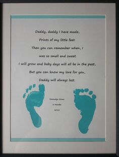 Father's Day Poem-2012 Diy Father's Day Crafts, Holiday Crafts For Kids, Father's Day Diy, Baby Crafts, Preschool Crafts, Kid Crafts, Fathers Day Poems, Fathers Day Crafts, Infant Activities
