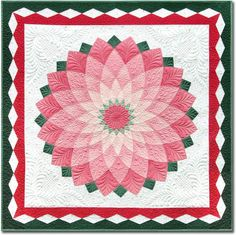 """The quilting truly """"makes"""" this quilt! Designs by Tammi Finkler. Marti Mitchell's Giant Dahlia."""